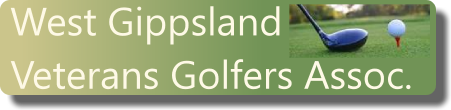 West Gippsland Veterans Golf logo